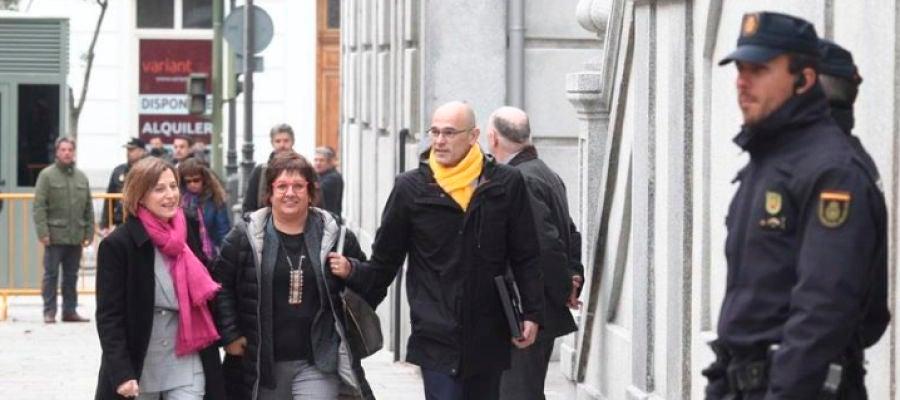 Forcadell, Bassa y Romeva a su llegada al Supremo