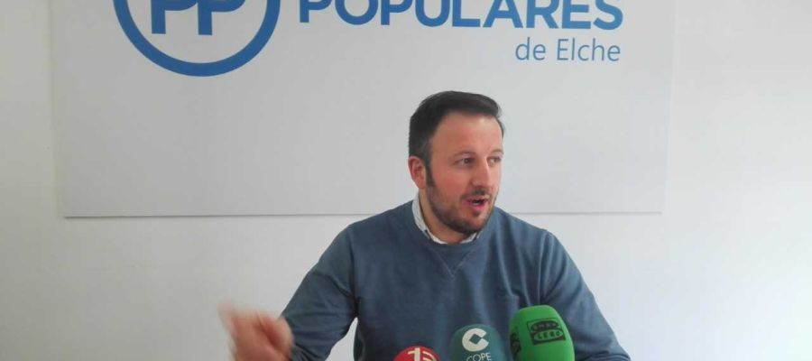 Pablo Ruz, presidente del PP de Elche