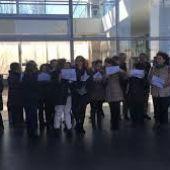 Anterior concentración de los funcionarios de justicia de Ciudad Real