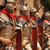 Recreación de soldados romanos