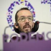 El portavoz de Podemos Pablo Echenique