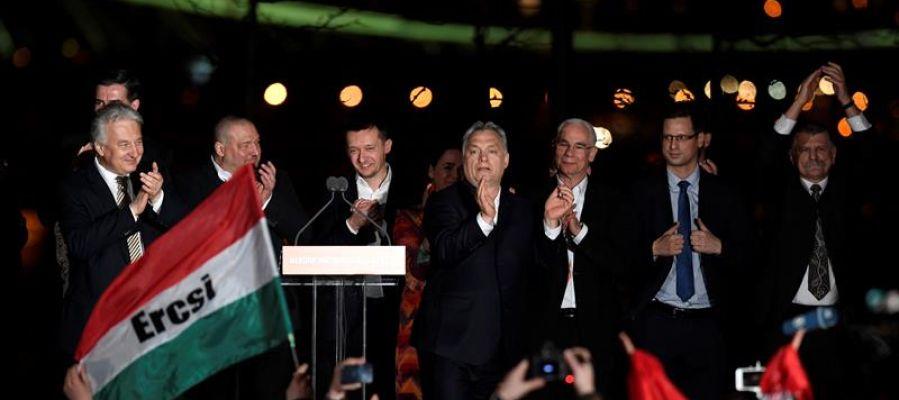 Viktor Orbán, tras ganar las elecciones en Hungría