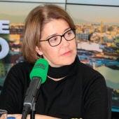 María Pujalte en los estudios de Onda Cero