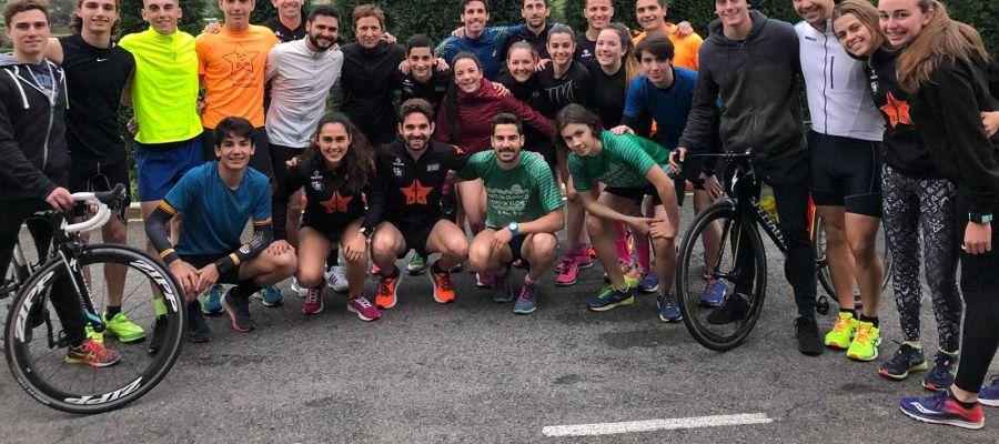 LA208 Triatlón Club congregó a más de 30 duatletas en la jornada del Campeonato de España en Avilés.