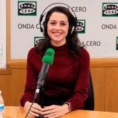Inés Arrimadas desde los estudios de Onda Cero Barcelona
