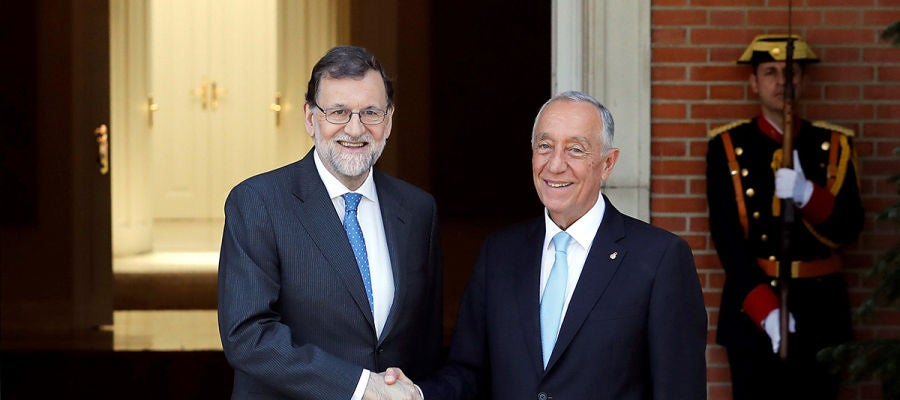 Mariano Rajoy con Marcelo Rebelo de Sousa