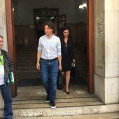 Jaume Garau a su salida del Juzgado de Palma