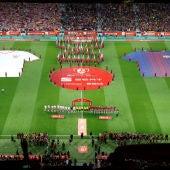 Final de Copa entre el Sevilla y el Barcelona