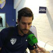 El centrocampista del Málaga, Adrián González.