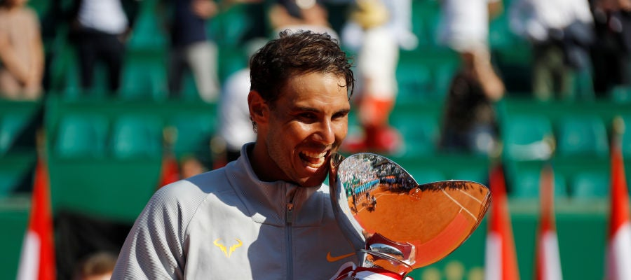 Rafa Nadal celebrando el título de Montecarlo