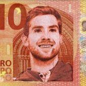 Billete de 10 euros con la cara de Iñigo Martínez