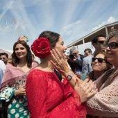 La líder de Ciudadanos en Cataluña y portavoz nacional del partido, Inés Arrimadas, en su visita a la Feria de Abril