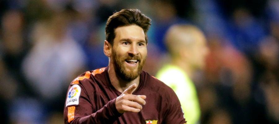 Messi celebra un gol