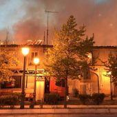 Palacio de los Duques de Osuna, en llamas