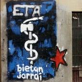 Pintada del anagrama de ETA