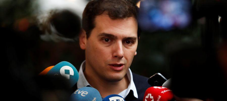 El presidente del partido español Ciudadanos, Albert Rivera