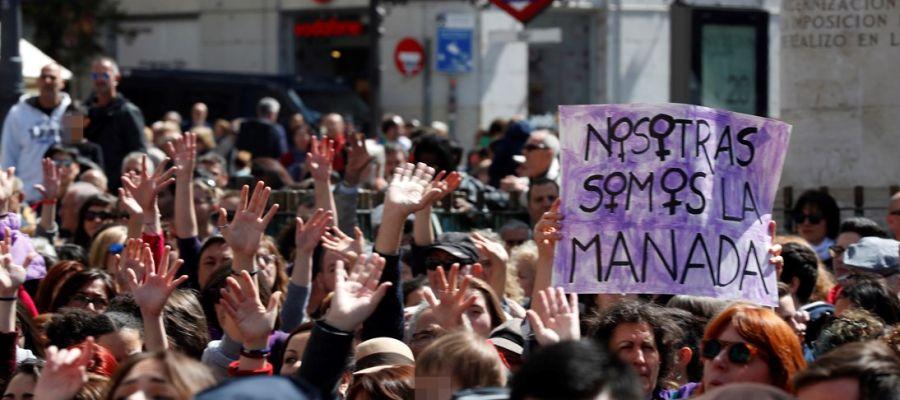 Manifestación contra la sentencia de La Manada