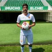 El lateral izquierdo Redru, en su presentación como nuevo jugador del Elche CF.