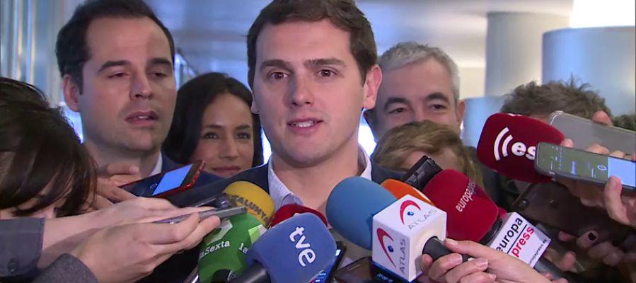 """Rivera pide a PP y PSOE seguir """"juntos"""" aplicando el artículo 155 en Cataluña"""