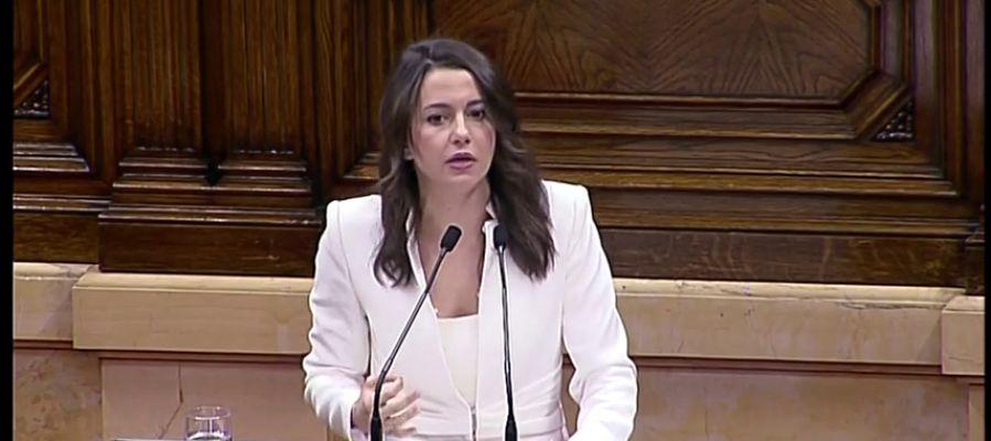 """Arrimadas, a Torra: """"Usted no ha venido a dirigir un gobierno, ha venido a dirigir un CDR""""."""