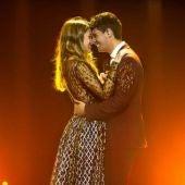 Amaia y Alfred en su actuación en Eurovisión 2018