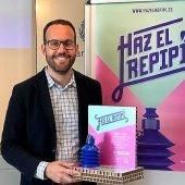 El concejala de Limpieza en Elche, Héctor Diez, en la presentación de la campaña
