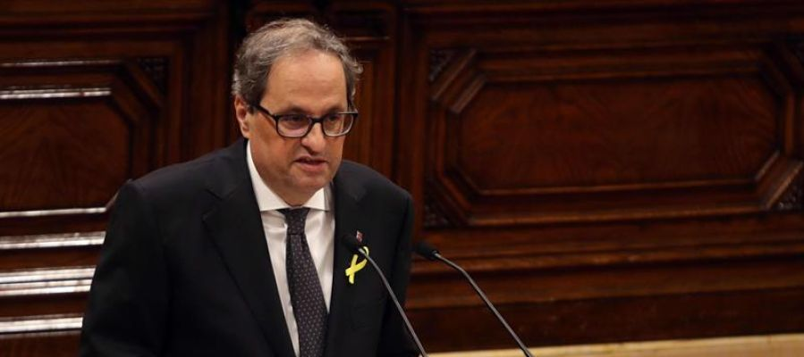Quim Torra llega al Palau de la Generalitat para tomar posesión de su cargo a las 11:30