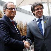 Quim Torra y Carles Puigdemont en Bruselas