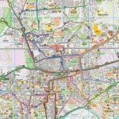 Mapa de los transsportes de Alcalá de Henares