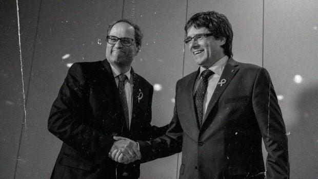 El primer noticiero de la república catalana se cuela en la emisión de Más de uno