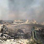 Zona cero de la explosión en Tui
