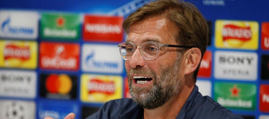 Klopp, durante la comparecencia de prensa previa a la final de Champions