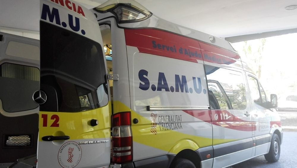 Ambulancia del SAMU en el Hospital General.