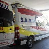 Ambulancia del SAMU en el Hospital General.