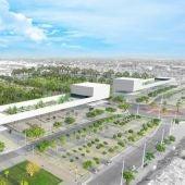 Simulación del área proyectada para el campus tecnológico de Elche