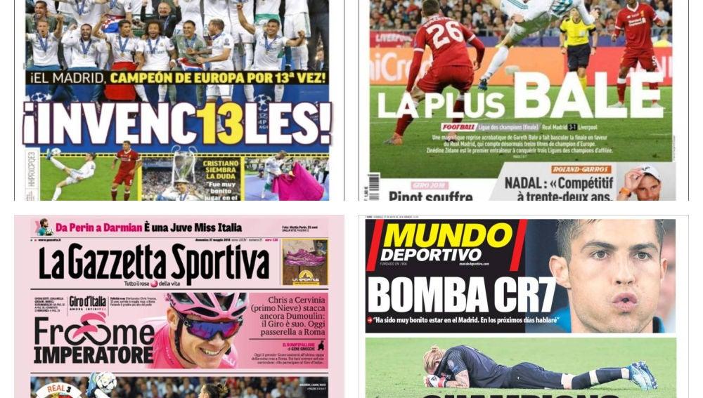Portadas de la prensa deportiva