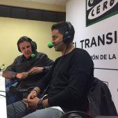 José Ramón de La Morena junto a Michel, entrenador del Rayo Vallecano