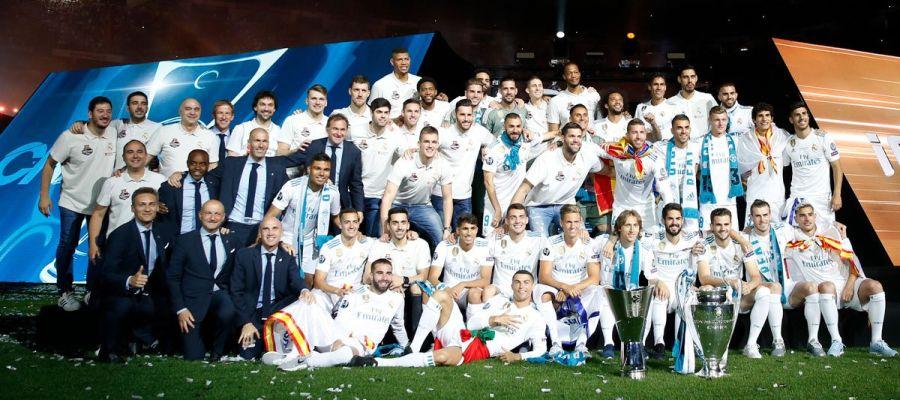Las plantillas de fútbol y baloncesto del Real Madrid 7c86614641942