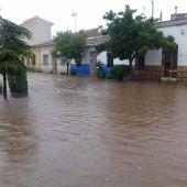 La tormenta ha provocado inundaciones en Moral de Calatrava
