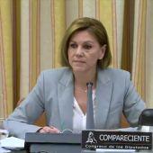 """El rifirrafe entre Rufián y Cospedal por una pregunta sobre """"M.Rajoy"""""""