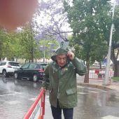 El regidor de Serveis Publics Paco Valverde que ha acompanyat als serveis desplaçats fins als diferents punts.
