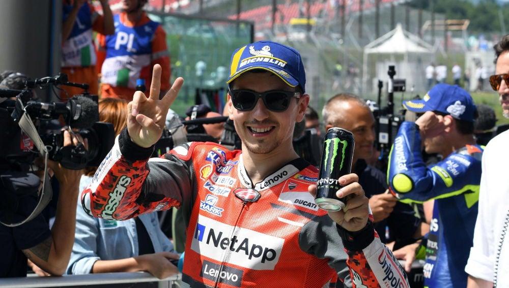 Jorge Lorenzo, antes de una carrera con Ducati