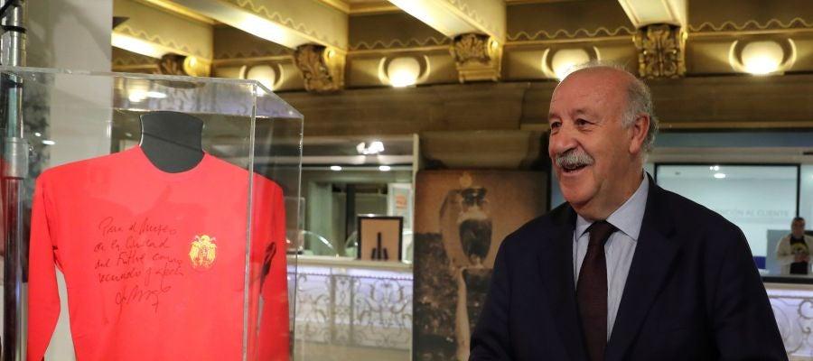 Vicente del Bosque, durante la presentación del Espacio Selección