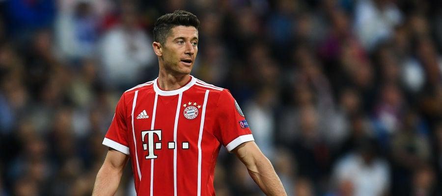 Lewandowski, en un partido con el Bayern de Múnich