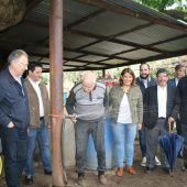 Felipe Ferriero, dueño de la Venta de la Inés, observa como sale el agua potable