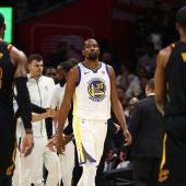 Kevin Durant, en el partido ante los Cavaliers