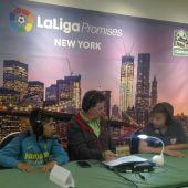 José Ramón de La Morena junto a los participantes de LaLiga Promises de Nueva York