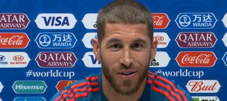 Sergio Ramos comparece ante los medios