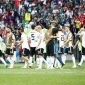 Jugadores de Alemania, cabizbajos