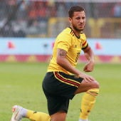 Hazard, en un amistoso con Bélgica